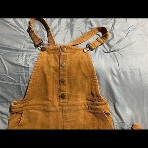 Corduroy overalls